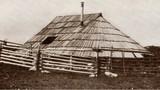Ovalna koča s strešno lino