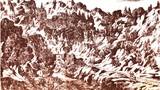 Pot v Kamniško Bistrico po Valvasorju 1669,vidna je tudi Fürštova miza