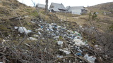 Smetišče na pragu turistične točke Zeleni Rob