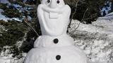 Snežna skulptura 2021 v Kamniškem naselju